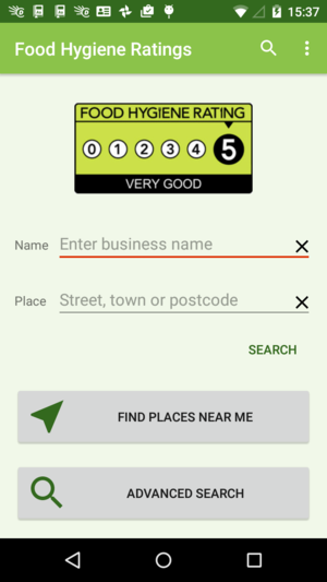 Android Food Hygiene Ratings